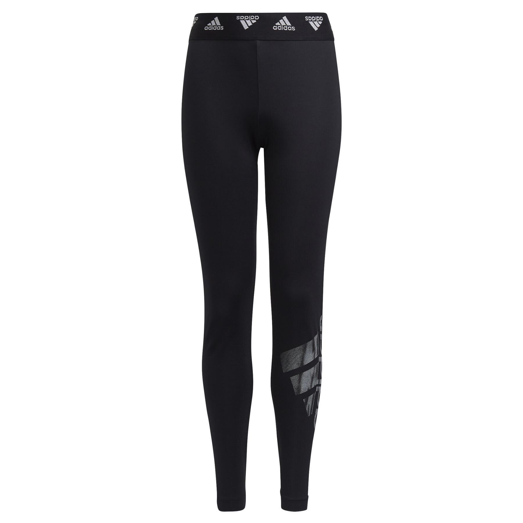 Girl's tights adidas Primegreen AEROREADY Training Dance Move Doubleknit Metallic-Print