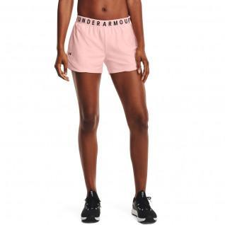 Women's Under Armour play up 3.0 embossed shorts