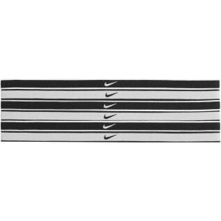 Pack of 6 hair elastics Nike Swoosh tipped