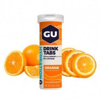 Tube of 12 hydration tablets Gu Energy orange (x8)