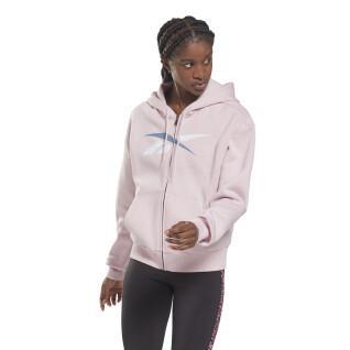 Women's zip-up hoodie Reebok Training Essentials Vector
