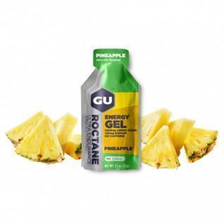 Pack of 24 roctane gels Gu Energy ananas sans caféine